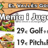GREEN FEE MENU DE DIMARTS A DIUMENGES. GOLF i PITCH & PUTT