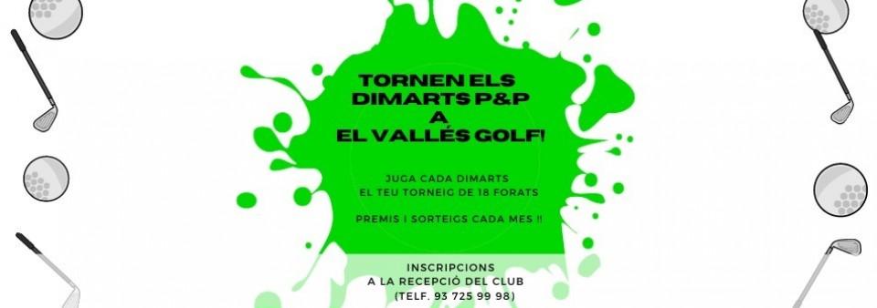 Tornen els tornejos setmanals «Dimarts Pitch & Putt»