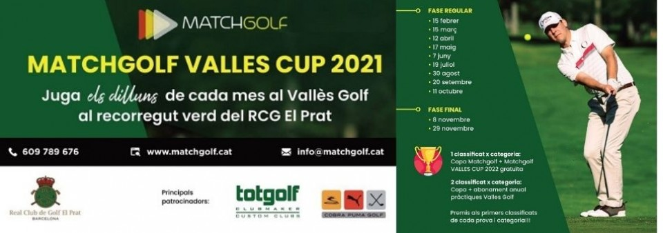 Pròximament Matchgolf Vallès Cup 2021!